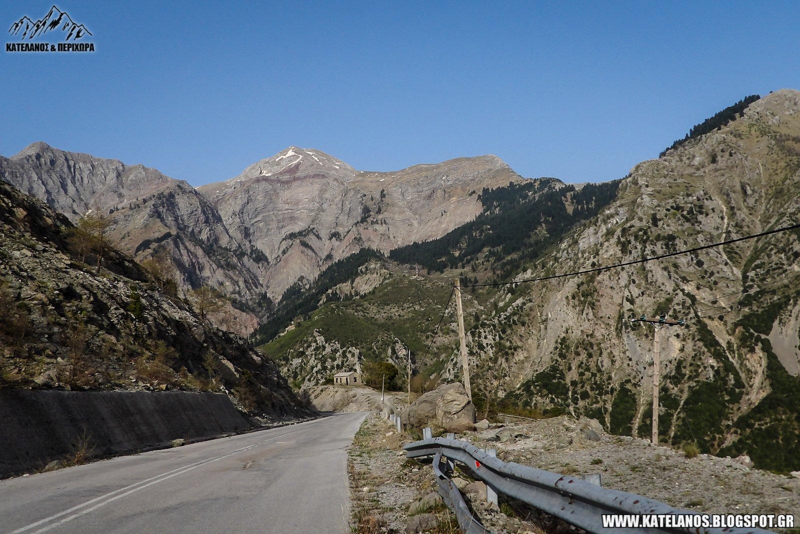 δρομος απο αρτα προς τρικαλα ορος χατζη βουνο