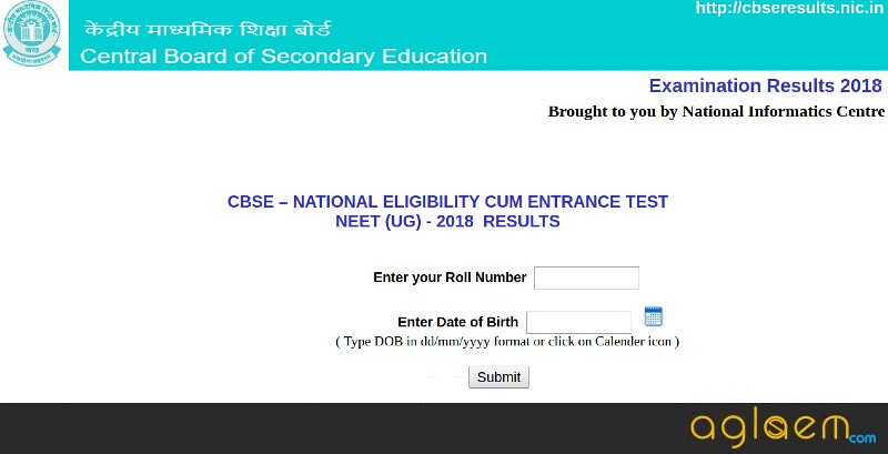 How To Check NEET 2018 Result at cbseneet.nic.in?