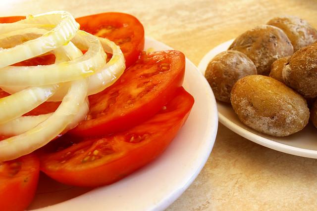 Tomato salad, El Cine, Los Cristianos, Tenerife