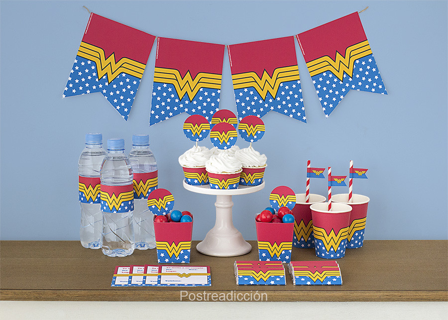kit imprimible wonderwoman