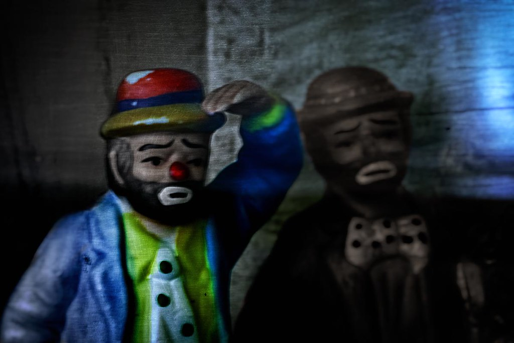 vintage miniatures hobo clowns