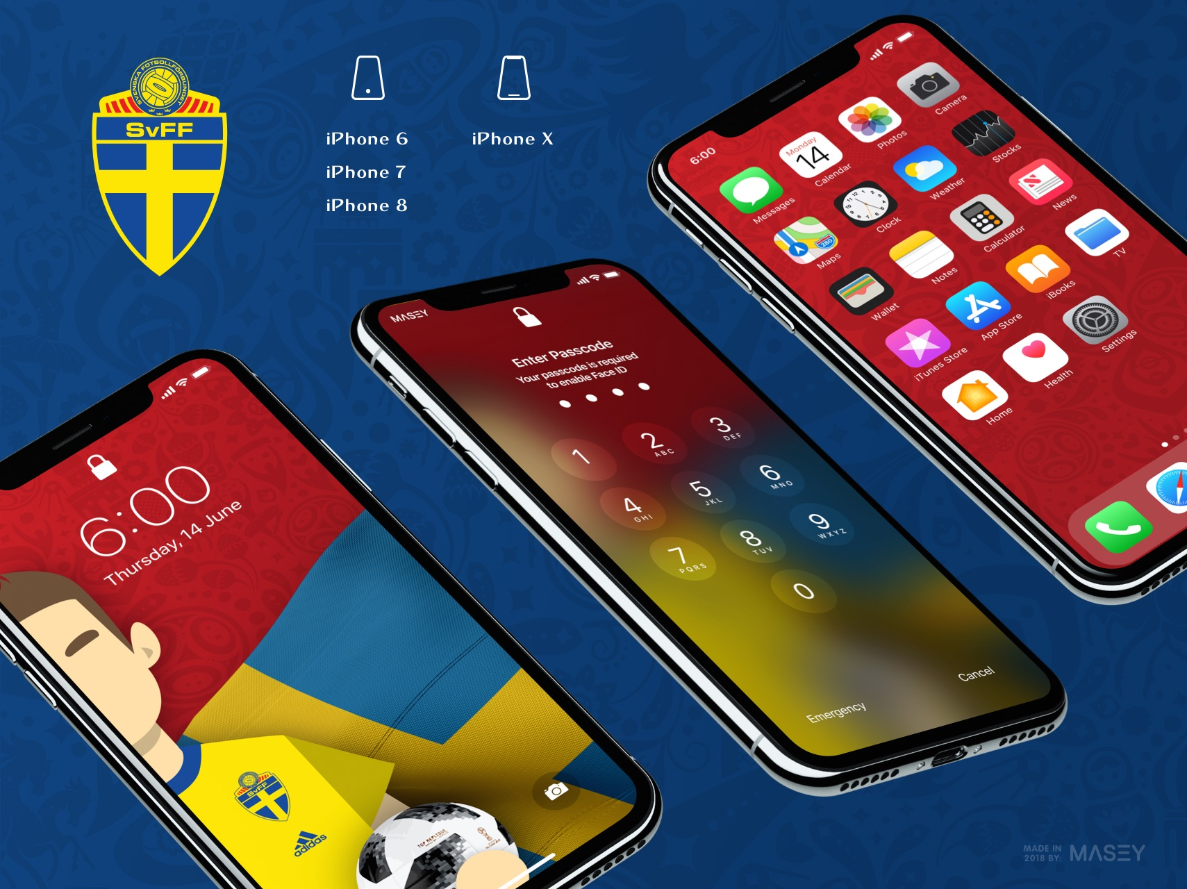 Team Sweden iPhone Wallpaper