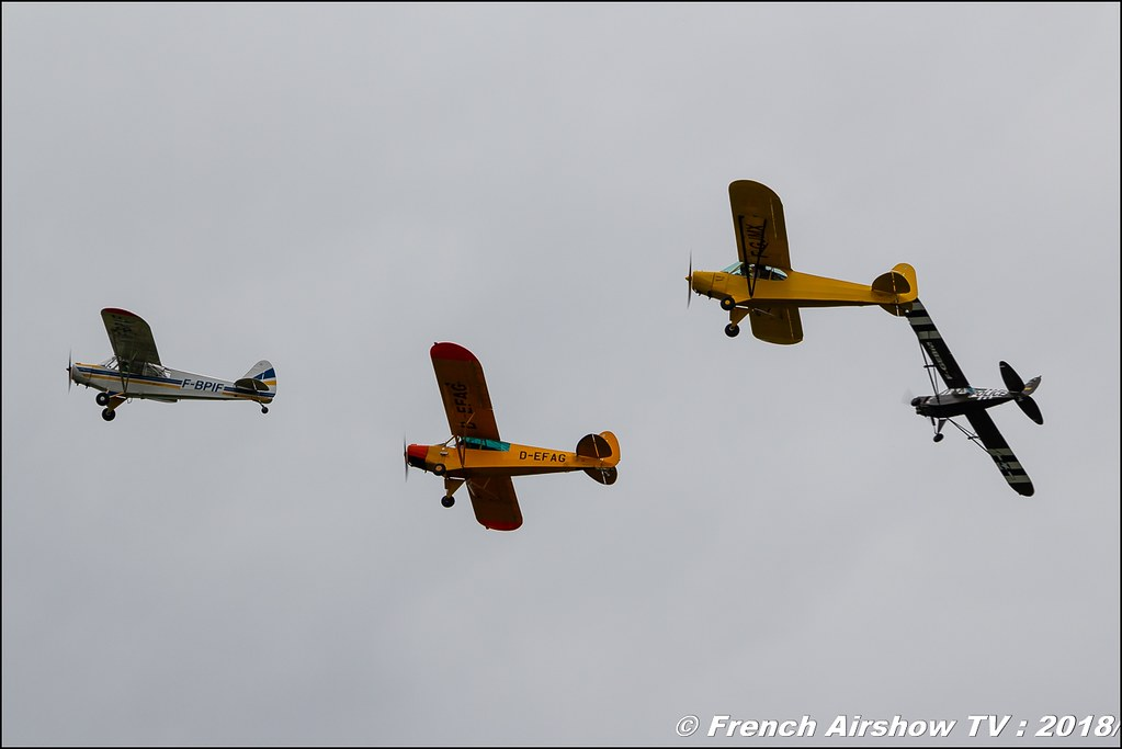 Crazy Piper Team - 5 Piper PA18 , 32e édition d'Airexpo Muret-Lherm , Airexpo Muret 2018 , Canon EOS , Sigma France , contemporary lens , Meeting Aerien 2018