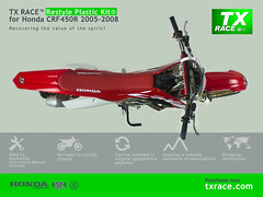 Restyle Plastic Kit® for Honda CRF450R 2005 2006 2007 2008