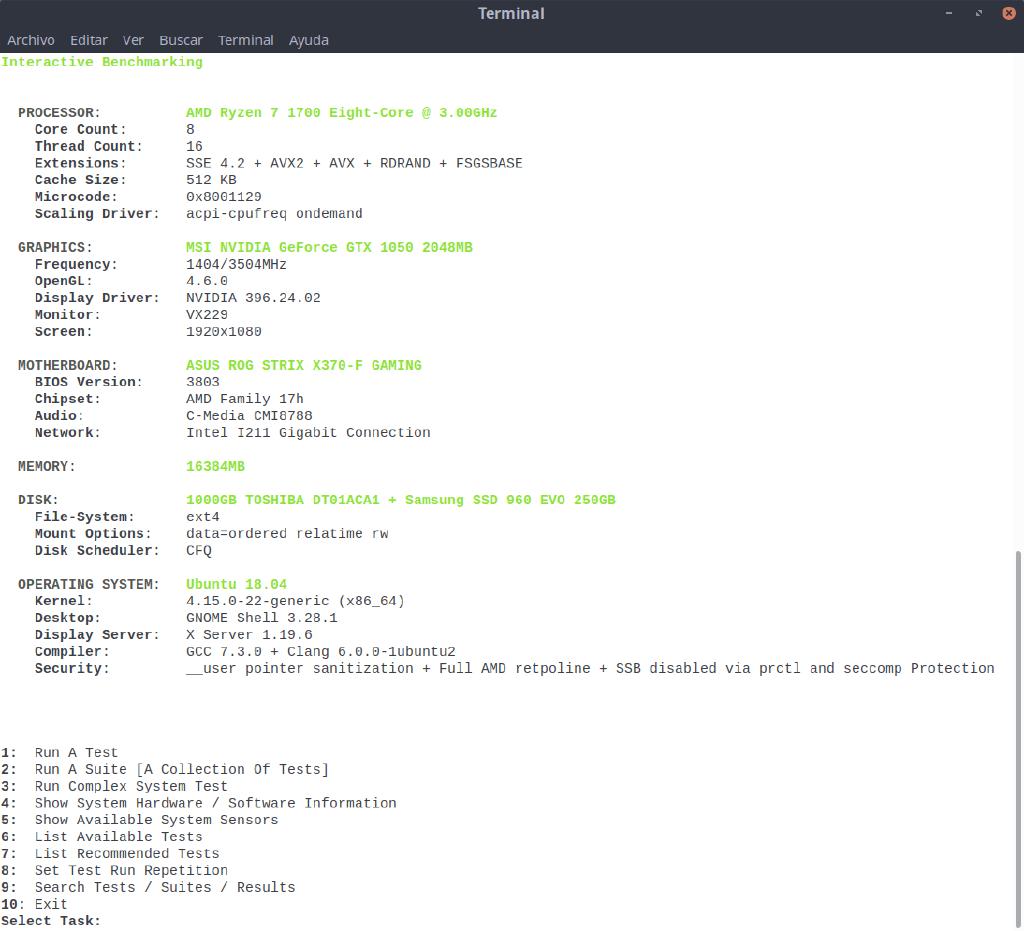 La suite de 'benchmarking' Phoronix Test Suite se renueva