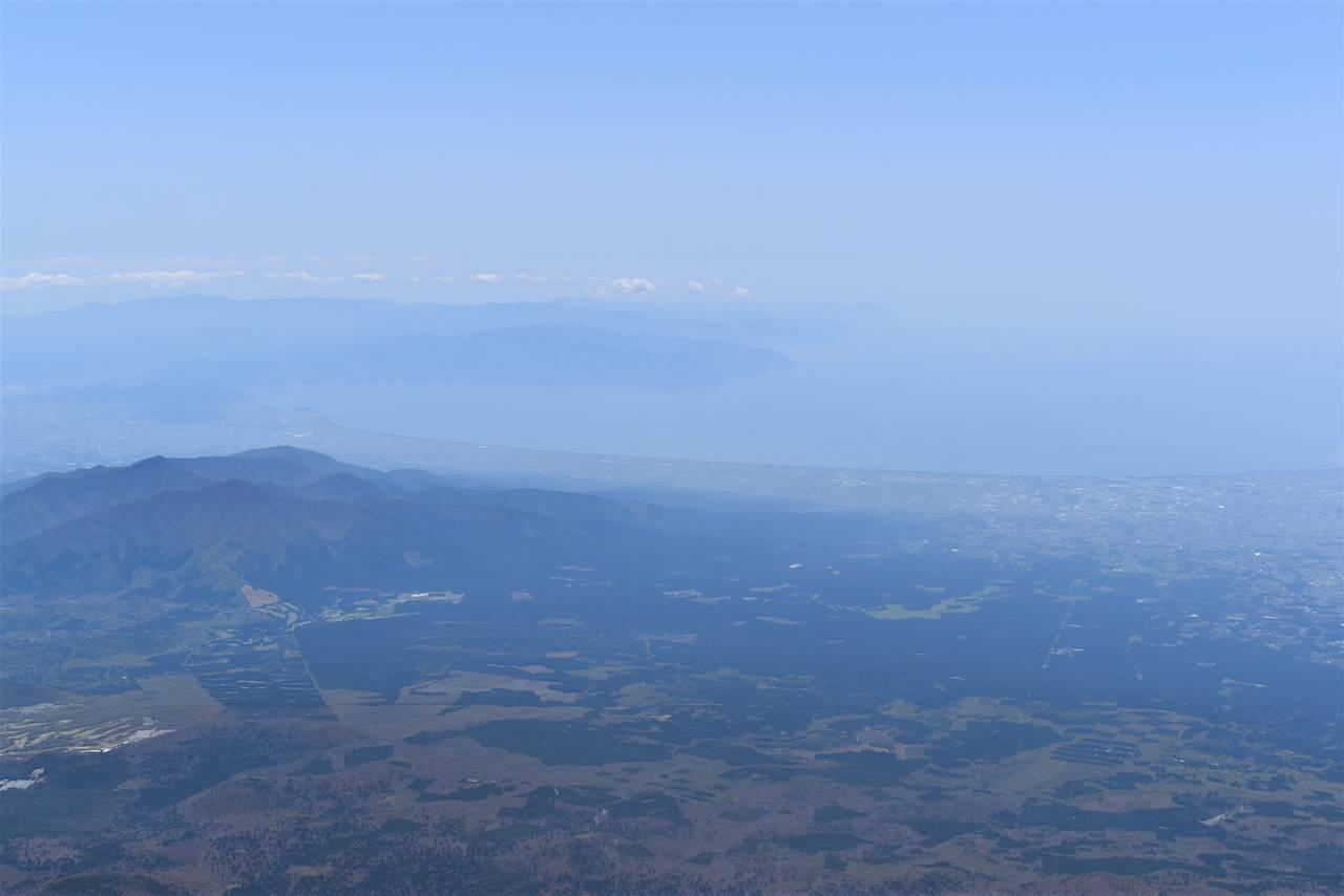 富士山から眺める駿河湾