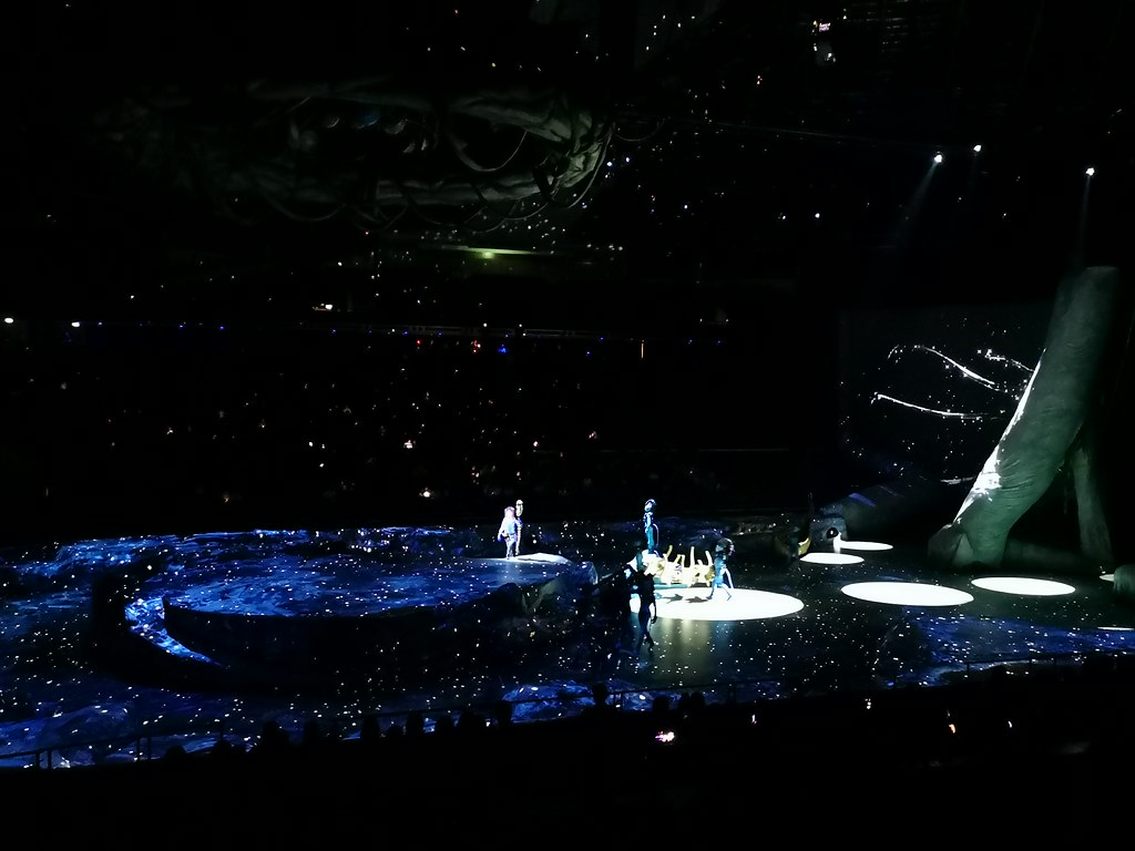 The stars spilled over the stage and into the audience.