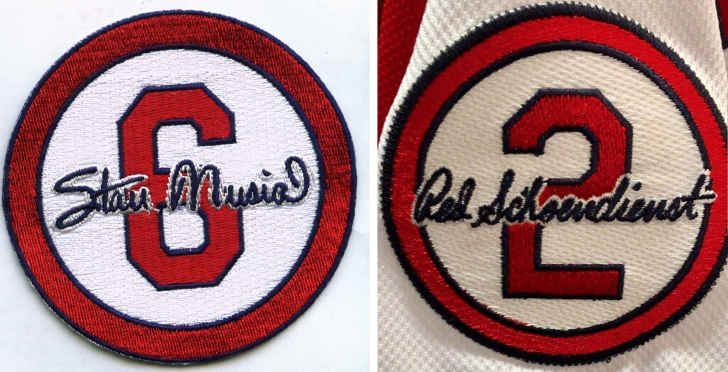 Cardinals New Schoendienst Patch Echoes Old Musial Patch Uni Watch