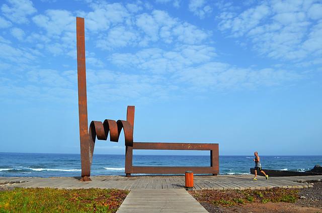 Arty coastline, Playa de las Americas, Tenerife