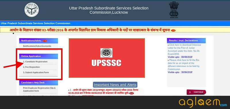 UPSSSC VDO Application Form