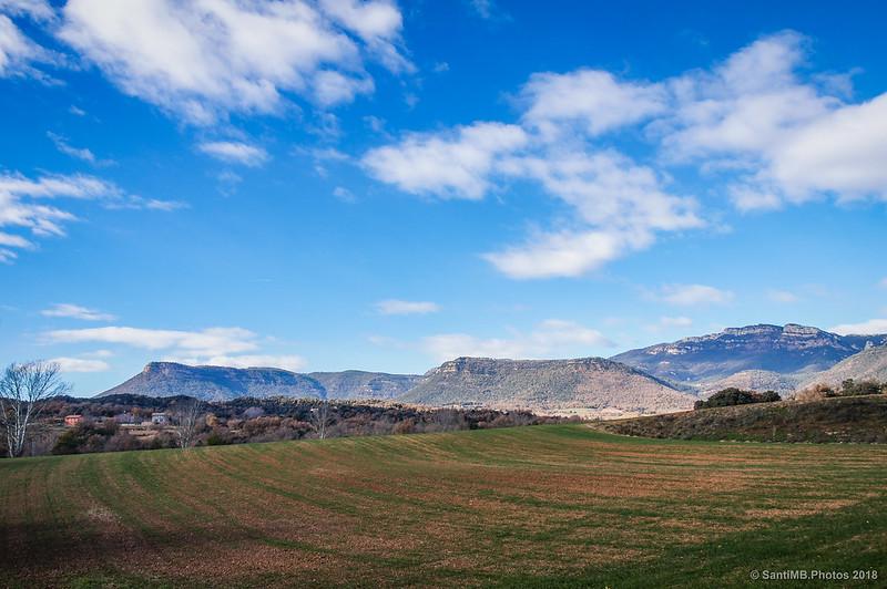 Sierras del Berguedà desde el lago de Graugés