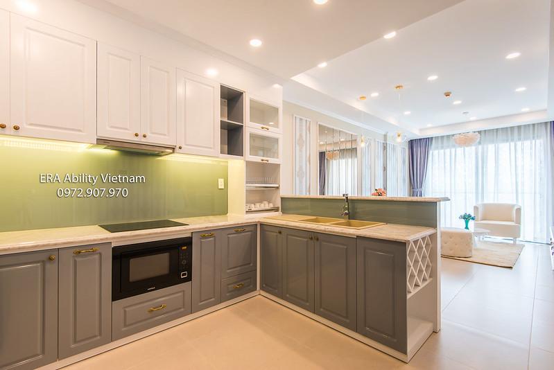 Goldview gian bếp căn hộ cho thuê
