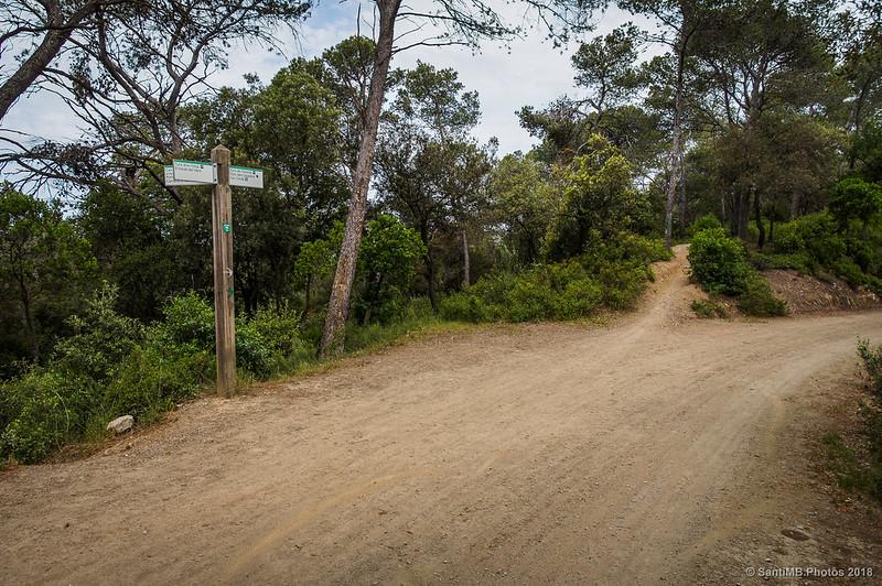 Cruce de caminos en la Serra d'en Fotjà