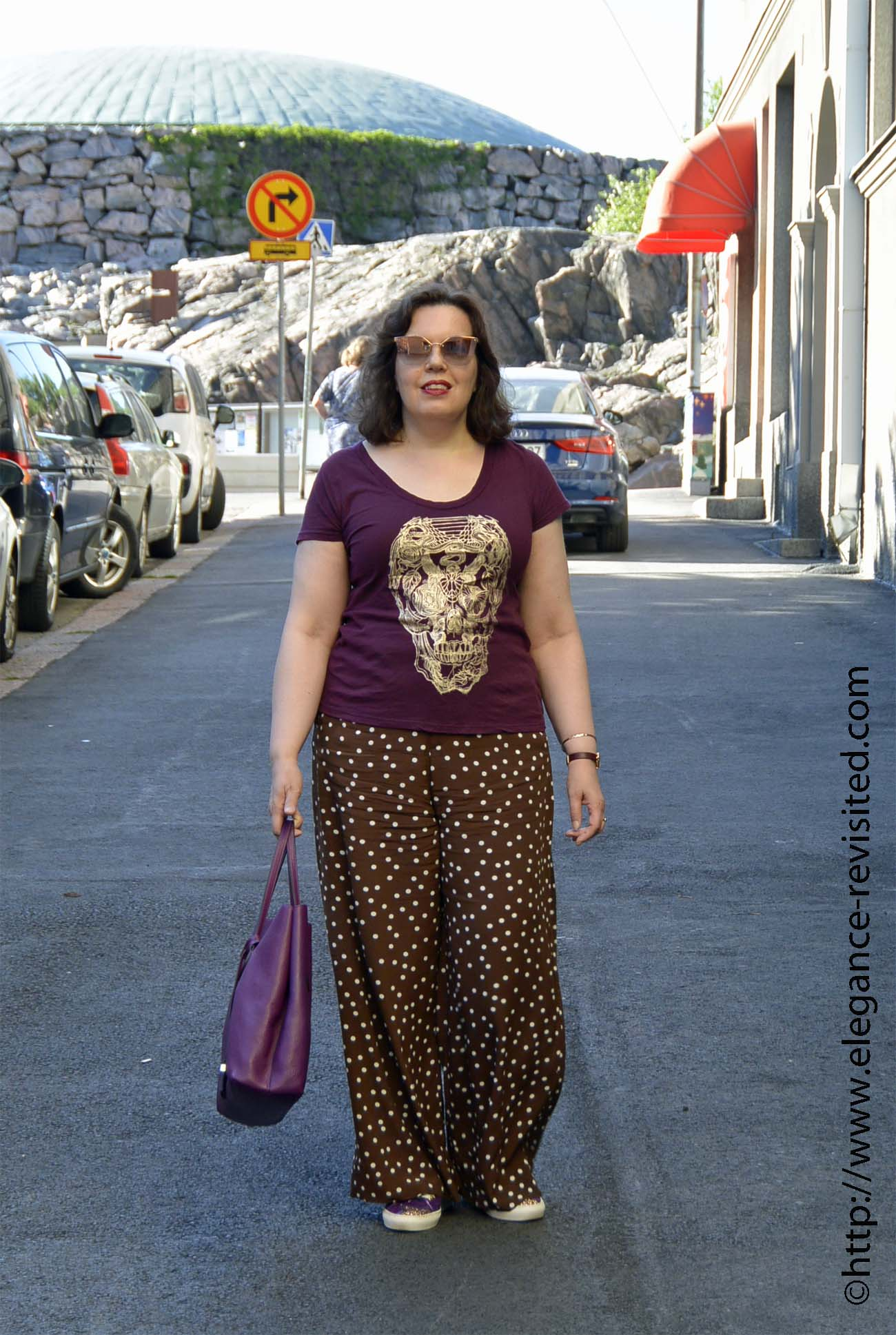 casual palazzo pants over 40