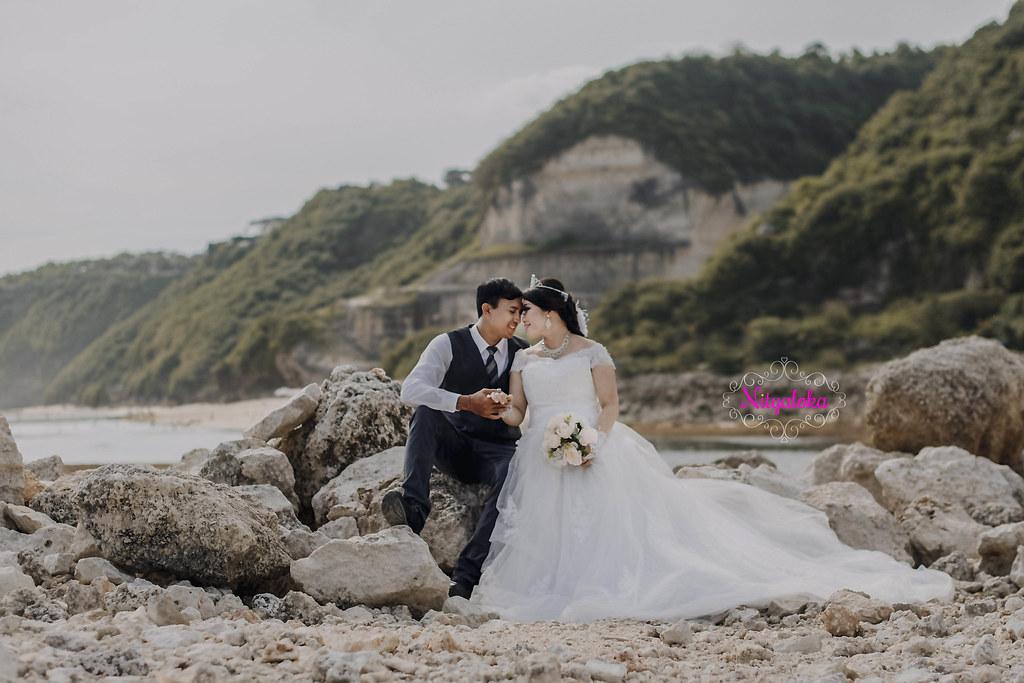 Foto prewedding lokasi bali jakarta paket rias gaun bridal lengkap murah