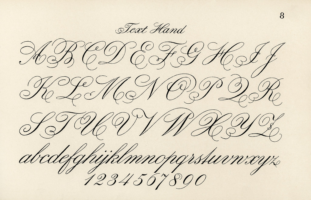 Cursive Fonts From Draughtsman's Alphabets By Hermann