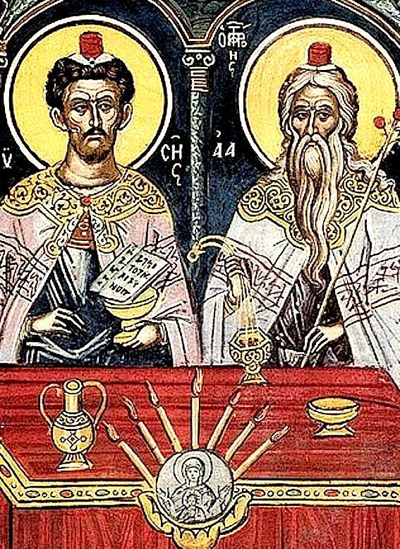 Праотцы Моисей и Аарон.
