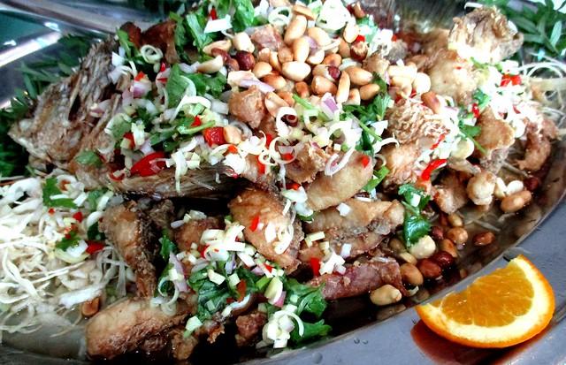 Flavours Thai Kitchen deep fried barramundi