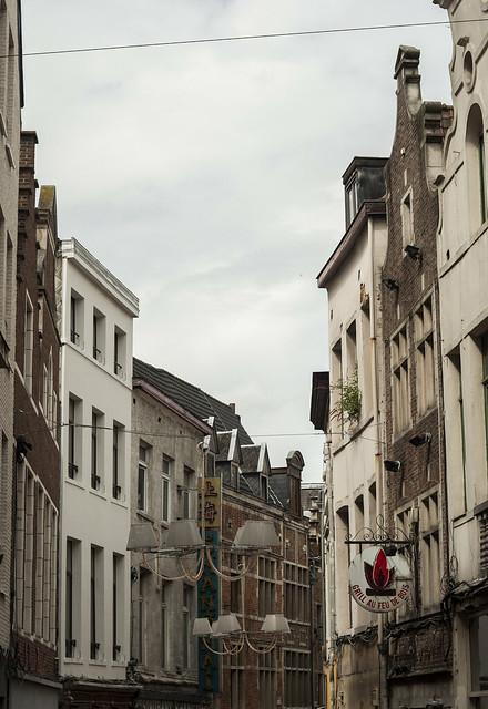 Elewacje budynków w Brukseli