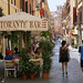 Strolling down the charming Via della Vite in Roma