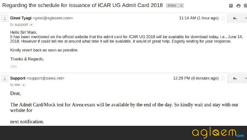 AIEEA UG 2018 Admit Card