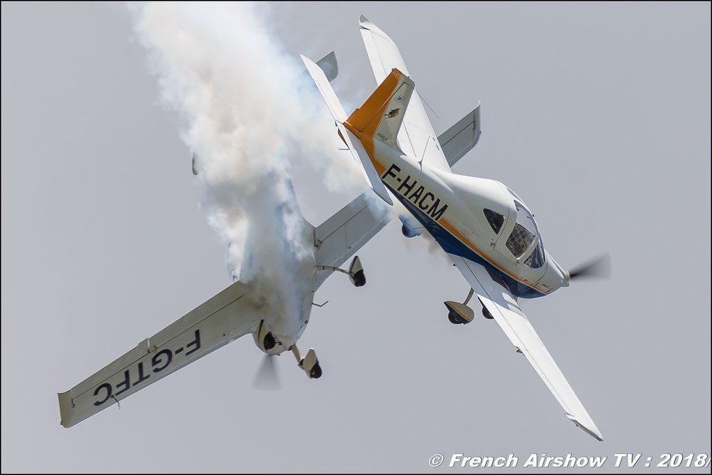 Patrouille Yellow , Tecnam P2002-JF , 32e édition d'Airexpo Muret-Lherm , Airexpo Muret 2018 , Canon EOS , Sigma France , contemporary lens , Meeting Aerien 2018