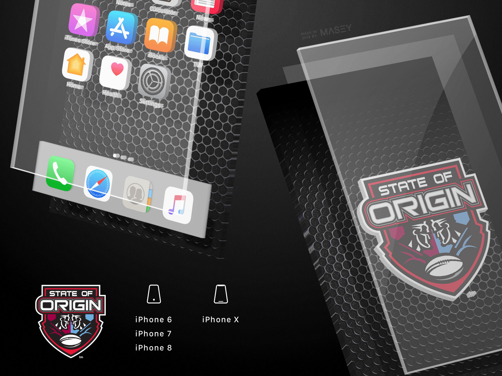 State of Origin Metal iPhone Wallpaper