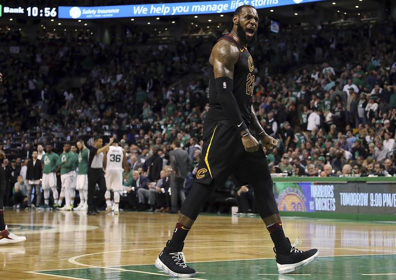 LeBron James帶領騎士連4年打進總冠軍賽。(達志影像)