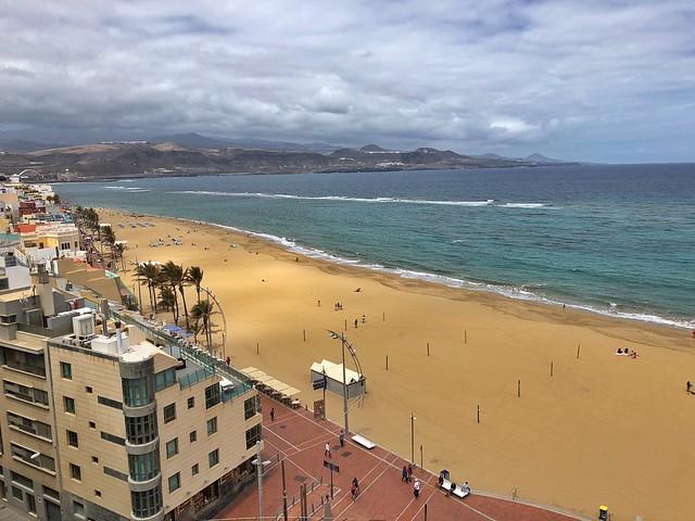 Playa de Las Canteras desde el Hotel Cristina (Las Palmas de Gran Canaria)