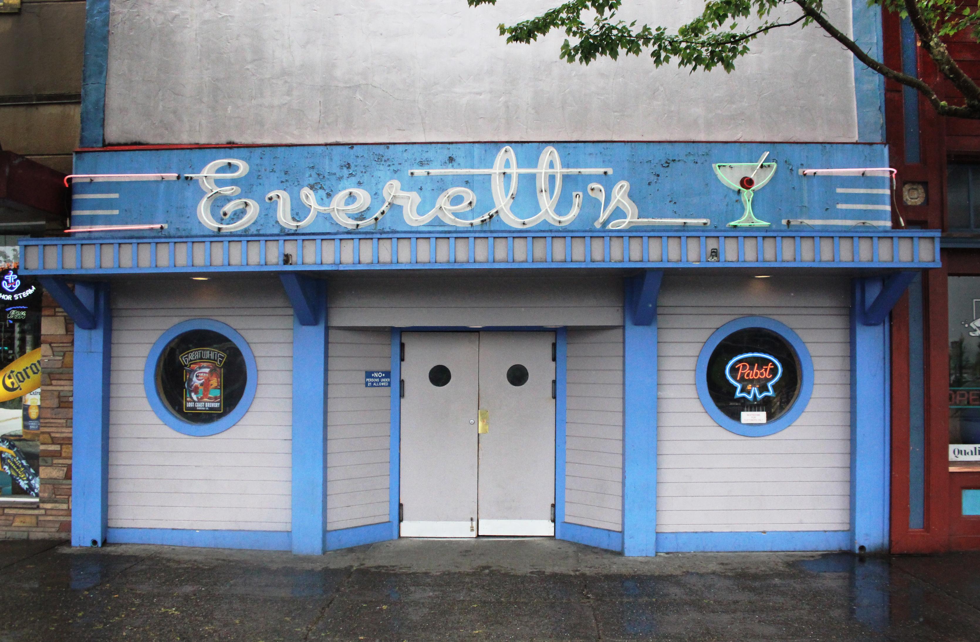Everett's - 784 9th Street, Arcata, California U.S.A. - May 25, 2018