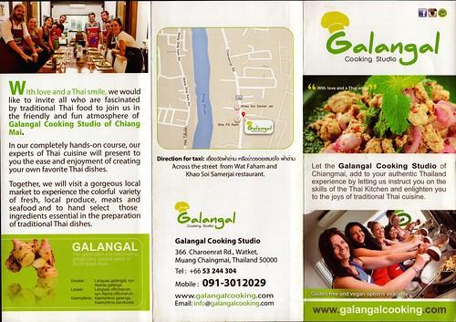 Brochure Galangal Cooking Studio Chiang Mai Thailand 1