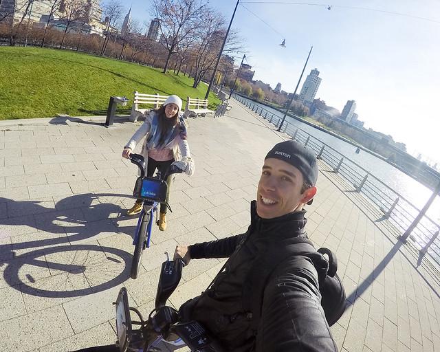 Hudson River Greenway de Nueva York en bicicleta