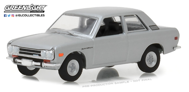 1970 DATSUN 510 SILVER ** Greenlight Tokyo Torque 1:64 ** SALE **