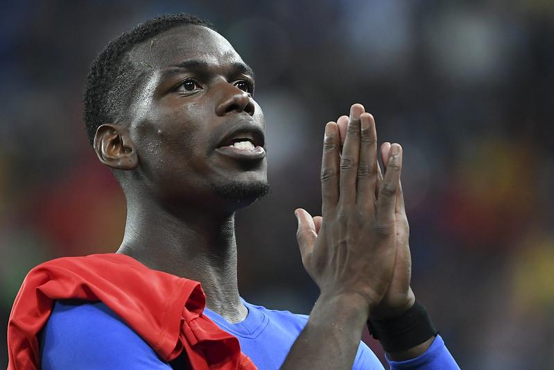 法國中場Paul Pogba將勝利獻給獲救的12位泰國足球少年。(AFP授權)