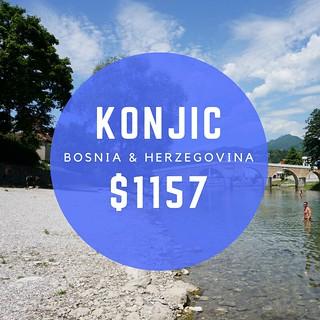 Konjic, Bosnia $1157/mo.