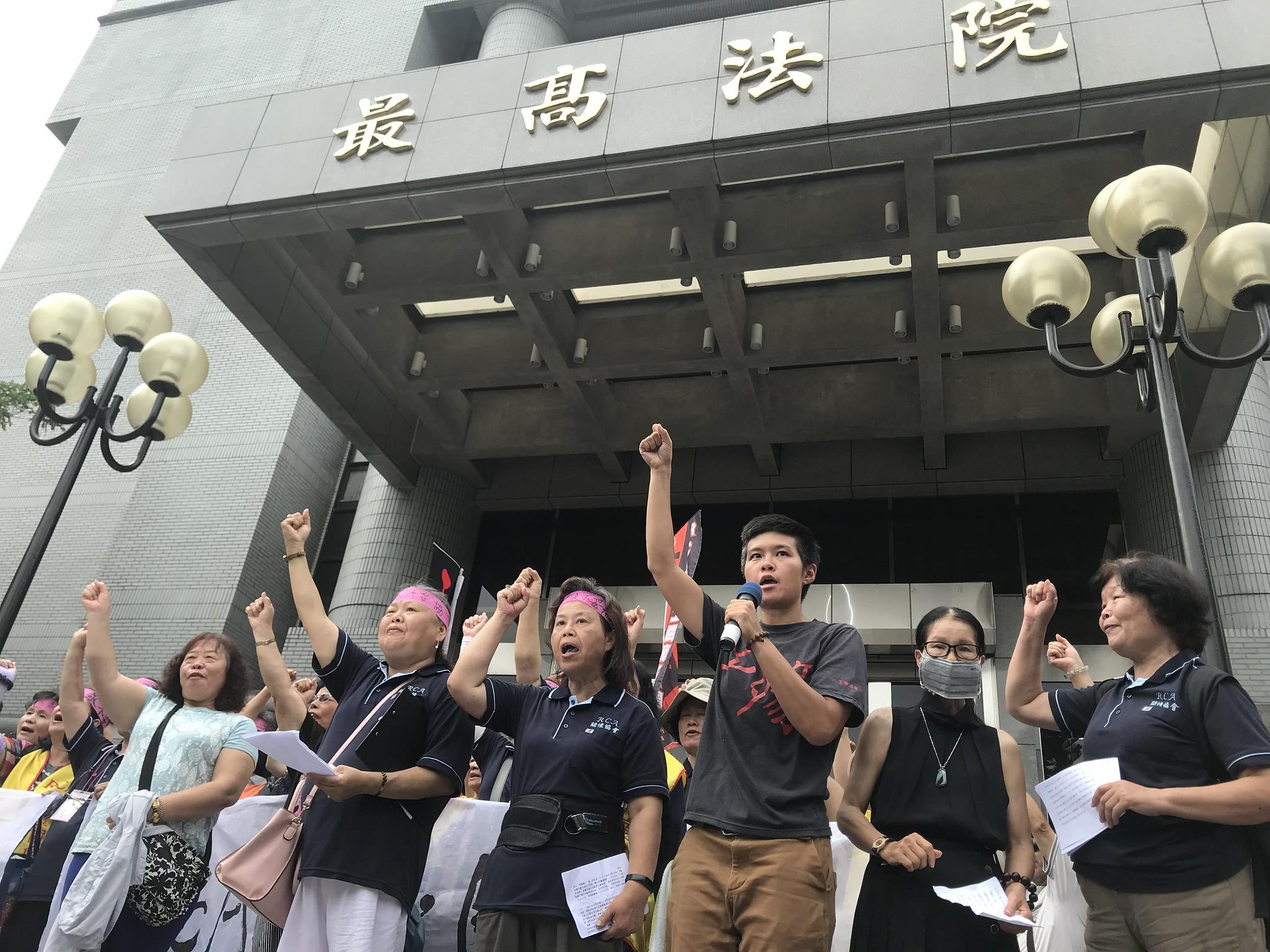 RCA工人要求最高法院「儘速判決,自為判決!」(攝影:張宗坤)