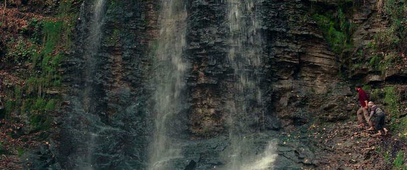 The Waterfall scene