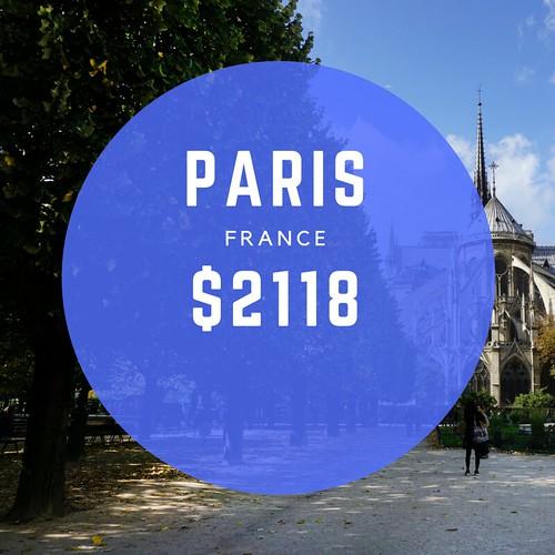 Paris France $2118 mo