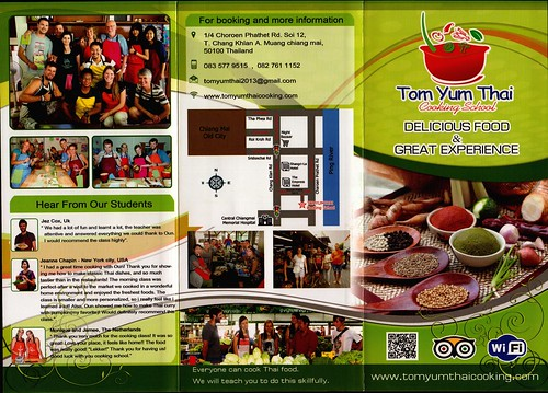 Brochure Tom Yum Thai Cooking School Chiang Mai Thailand 1
