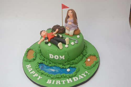 Awe Inspiring Golf Cake With Pregnant Lady Beautiful Birthday Cakes Personalised Birthday Cards Sponlily Jamesorg