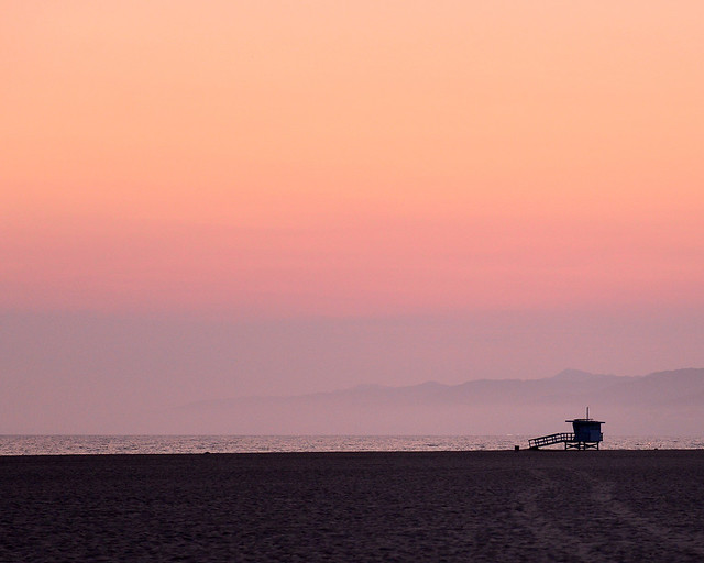 Atardecer en la playa de Venice Beach