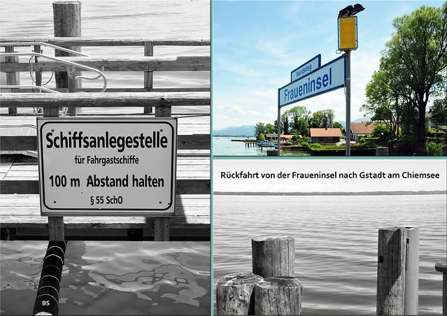 Rückfahrt vom Nordsteg der Fraueninsel nach Gstadt am Chiemsee ... Foto: Brigitte Stolle, 2018
