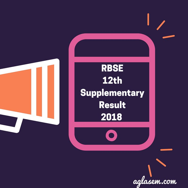 RBSE 12th Supplementary Result 2018 | Rajasthan board 12th Result - Announced