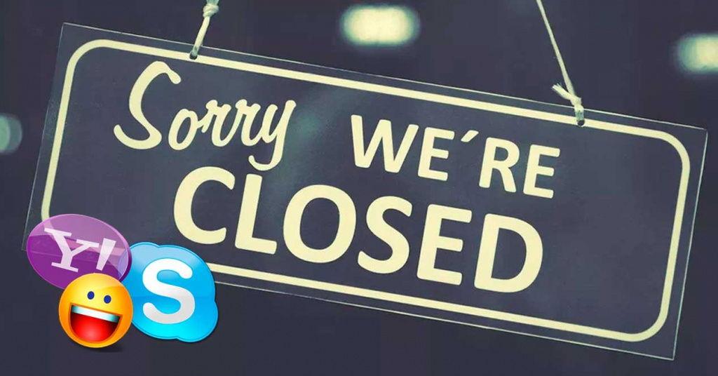 Se confirma el adiós de Skype Classic y Yahoo Messenger