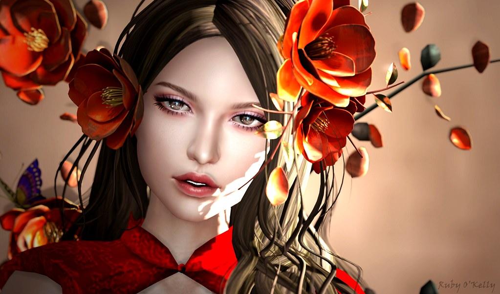 Ruby O: GOWN:::AZUL_Lynn_Garnet HAIR