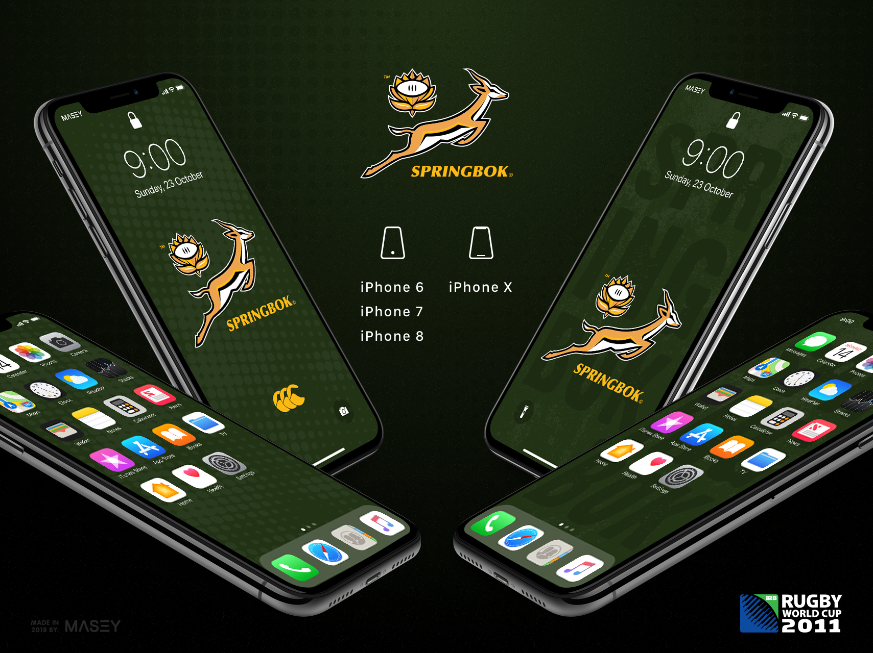 South African Springboks iPhone Wallpaper