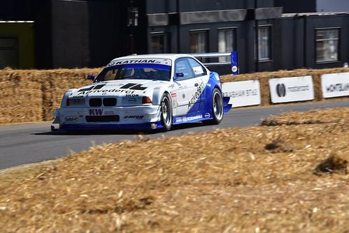 Joerg Weidinger, BMW E36 V8 Judd, Goodwood Festival of Speed 2018