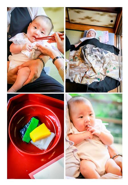 賀城園(名古屋市熱田区)でお食い初め・100日祝いの出張撮影 男の子の赤ちゃん
