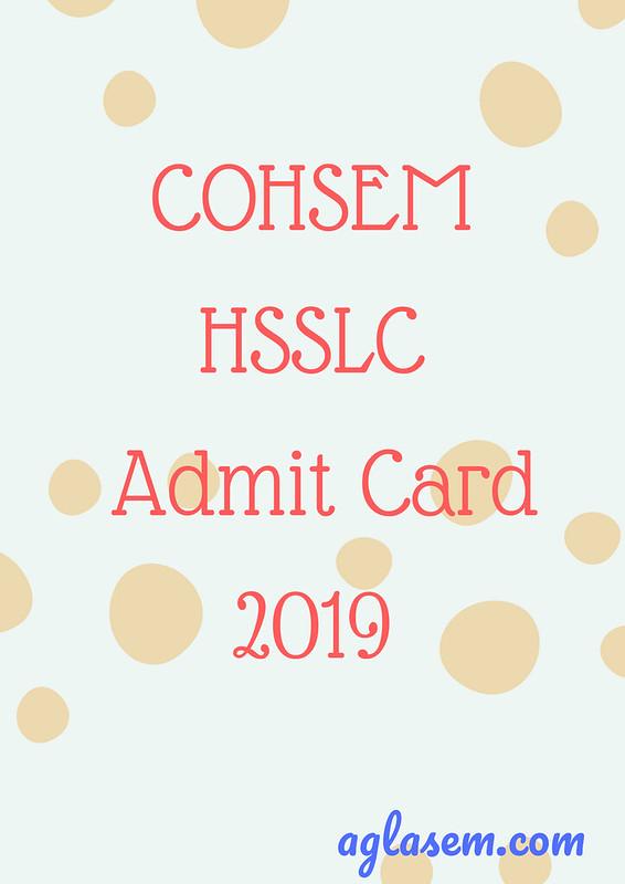 Manipur 12th Admit Card 2019