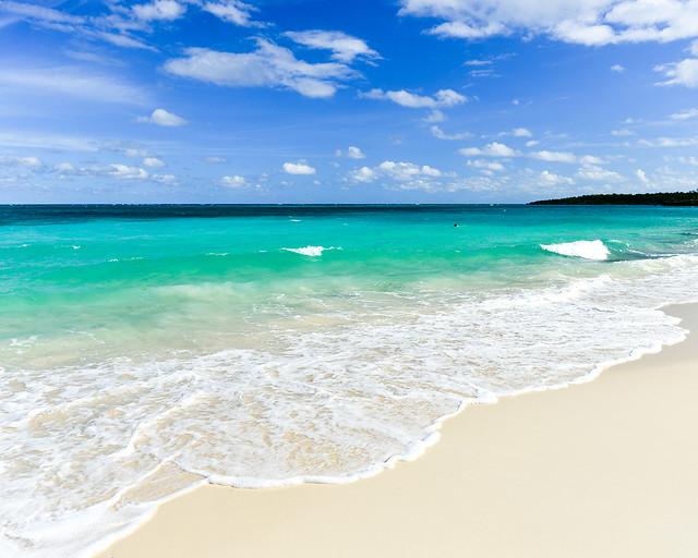 Playa Esmeralda, en Guardalavaca, una de las playas más preciosas de Cuba